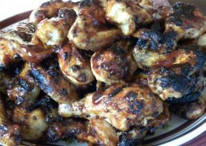 Easy Microwaved Barbecued Chicken