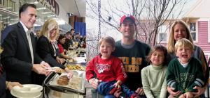 Paul Ryan, his wife, kids, and Mitt Romney
