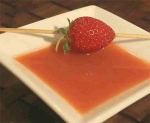 Strawberry and Orange Juice Cold Soup