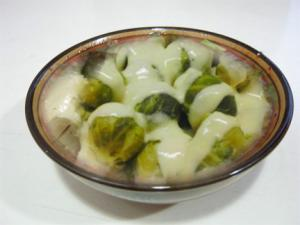 Brussels Sprouts with Hollandaise