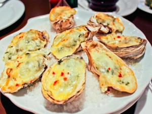 Oyster Rockefeller with Spinach and Mornay Sauce