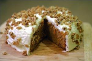 Food Processor Carrot Cake With Cream Cheese Frosting
