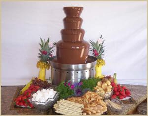 Use a chocolate fountain to attract guests at a party