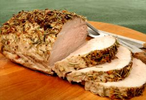 Roast Loin Of Pork With Prunes