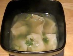 Boiled Low Carb Meat Wonton Soup