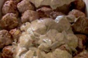 Swedish Meatballs with Mushroom Sauce