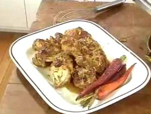 Tarragon Chicken With Rosemary Carrots