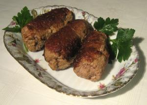 Veal Birds With Wild Rice