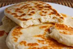 white bread naan
