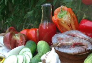 Molded Gazpacho Salad