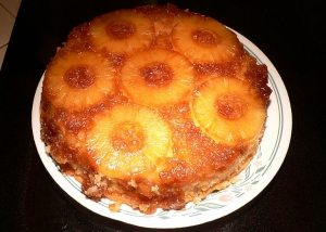 Microwave Pineapple Upside Down Cake Using Yellow Cake Mix
