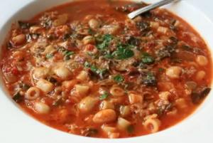 Italian Vegetable and Pasta Soup - Minestrone Soup