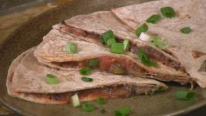 Simple Quesadillas with Scallions