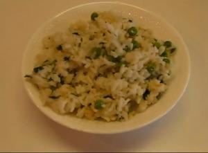Fresh and Flavorful White Rice and Green Peas