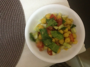 Simple Chick Pea Salad