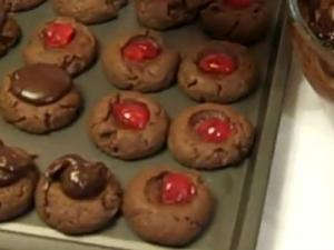Chocolate Covered Cherry Cookies from Pg 239 of Rosalie Serving Country Cookbook