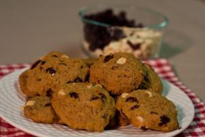 Veggie Pumpkin Cranberry Cookies