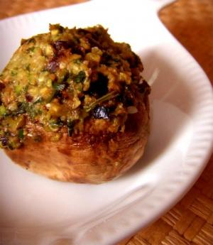 Oriental Stuffed Mushrooms