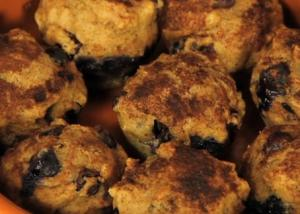 Healthy Blueberry Muffins with Flaxseeds