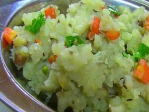 Sabudana or Sago Khichdi for Upvas - Spicy Tapioca for Fasting