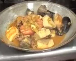 Crispy Skin Salmon and Seafood Cataplana
