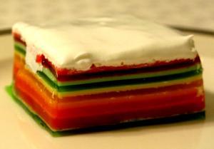 Ribbon Jell O Dessert