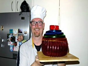 Giant Rainbow Gummy Cupcake