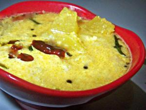 Vellarikka Moru Curry (Cucumber in Yogurt and Coconut Gravy)