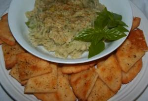 Bean Dip and Parmesan Crackers