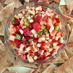 Fruit Salsa and Cinnamon Chips
