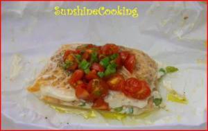 Solar Cooked Salmon en Papillote