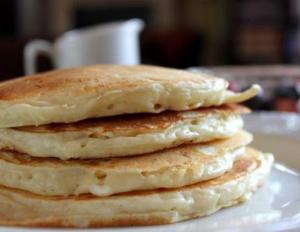 Swiss Cheese Pancakes