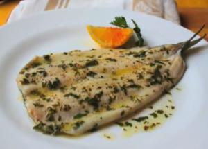 Broiled Rainbow Trout with Parsley Brown Butter