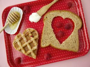 Weelicious's Waffle Heart Sandwiches: Healthy Valentine's Day Desserts