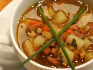 Roasted Ham and Lentil Soup