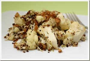 Roasted Cauliflower and Crab