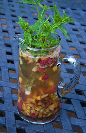 Chilean White Peach Melba Sangria