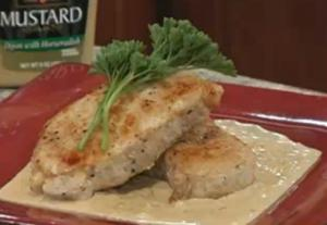 Sauteed Pork with Brandy Cream Sauce