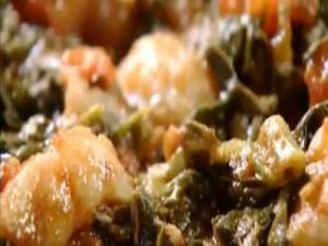 Moroccan Inspired Prawn and Spinach Tangiers
