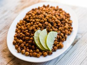 Garlic and Cumin Roasted Chickpeas