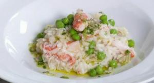 Snow Crab and Sweet Pea Risotto