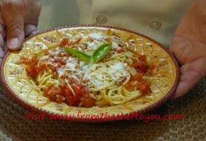 Tomato Garlic and Basil Pasta