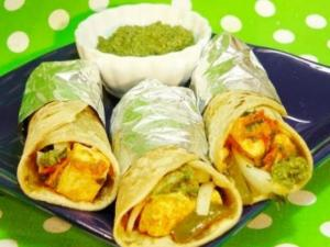 Paneer Kathi Roll - Yummy and Delicious Appetizer