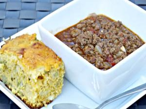 Dutch Oven Texas Style Pedernales Chili and Cornbread