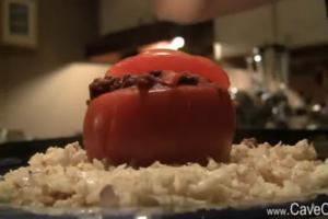 Beef Stuffed Tomatoes with Cauliflower Rice