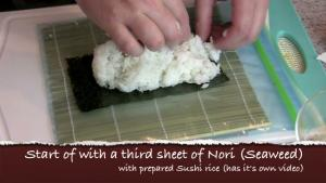 Spicy Shrimp Sushi Roll Recipe With Spicy Crab on Top
