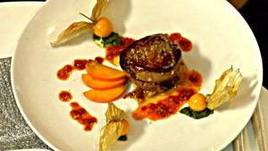Pan Roasted Quail and Seared Foie Gras, Duck Leg Confit