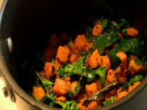 Pan Asian: Sweet Potato with Fenugreek Leaves (Kerala, India)