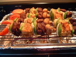 Making Shish Kabobs