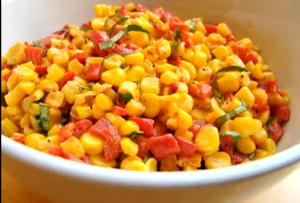 Easy Summer Corn And Pepper Salad